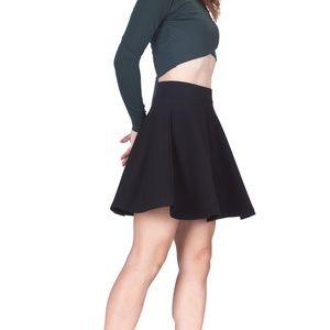 A&F Black Skater Mini Skirt